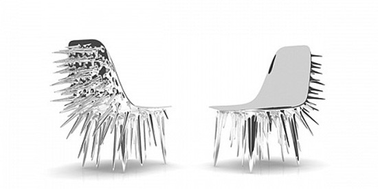 结舌 带刺创意椅子设计