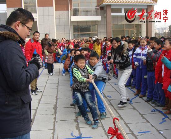 济宁市永丰街中心小学积极开展冬季趣味活动