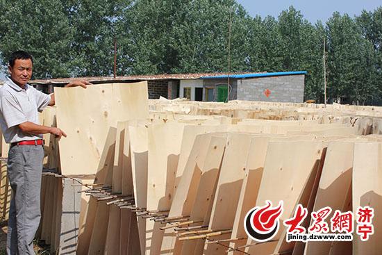济宁梁山县小木板 旋 出大产业